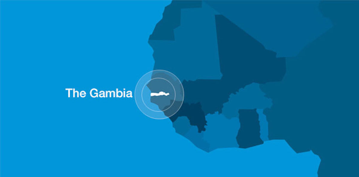 Gambia Map Harbor